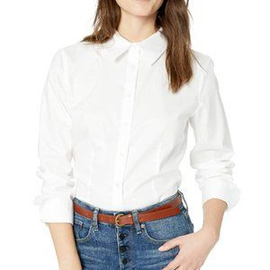 Women's long sleeve wrinkle free button up shirt